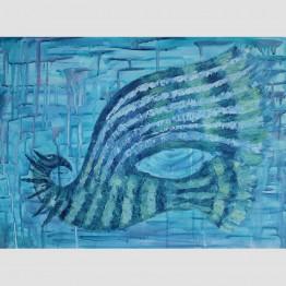 """Картина """"Птица в дъжда"""""""