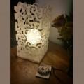 Лампа Кърли Бяла